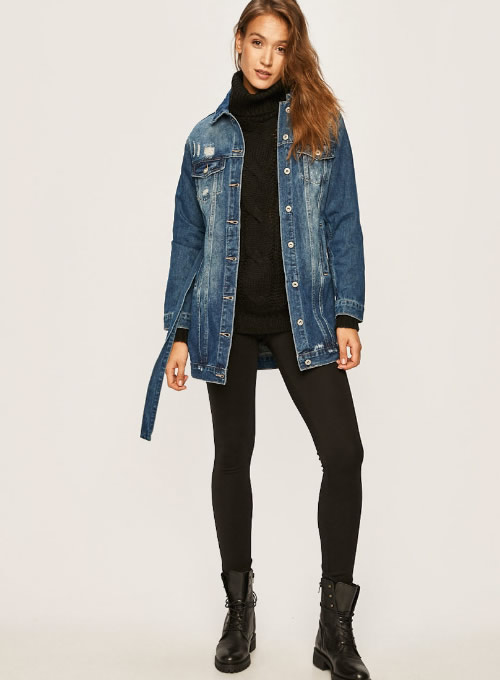 Jacheta de blugi lunga