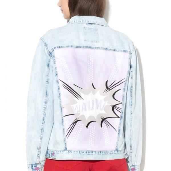 Jacheta din denim dama ieftina