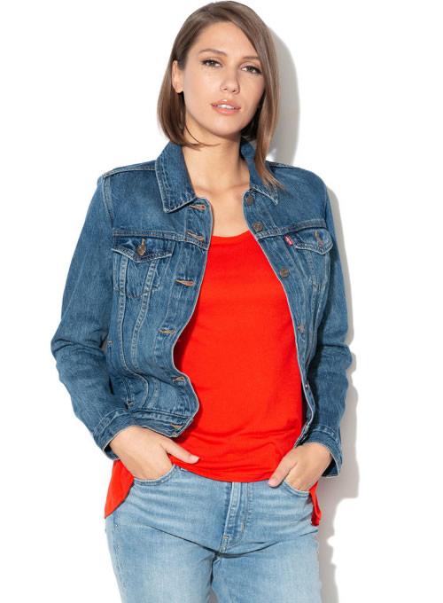 Jacheta dama de blugi din denim levis