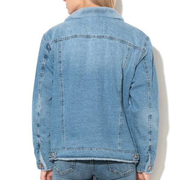 Jacheta din denim dama imblanita