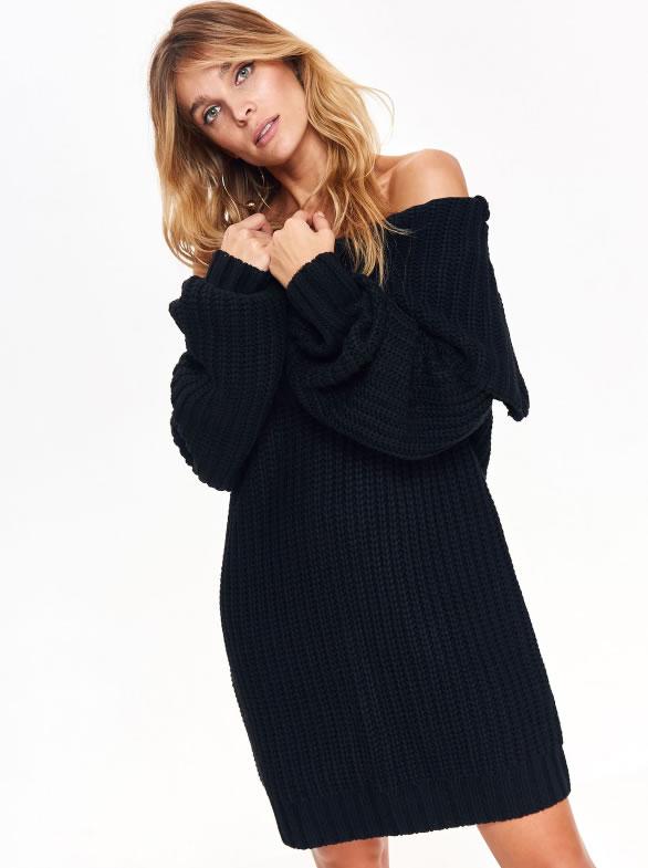 Rochie dama tricotata stil pulover