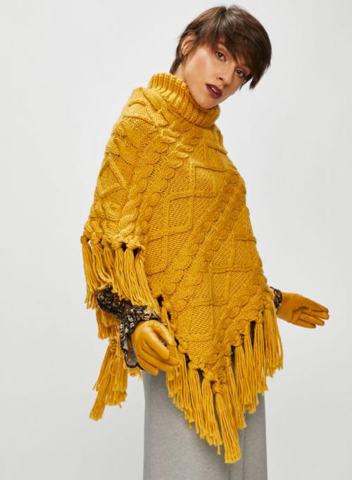 Poncho dama tricotat ieftin