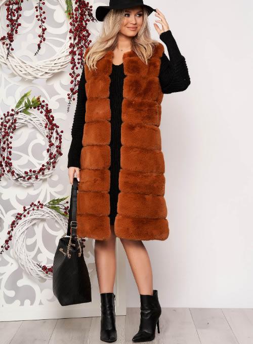 Vesta blana ecologica dama lunga