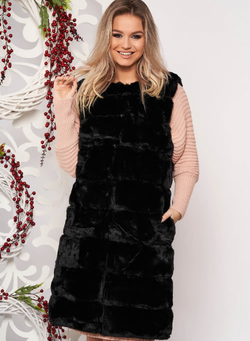 Vesta blana ecologica dama neagra